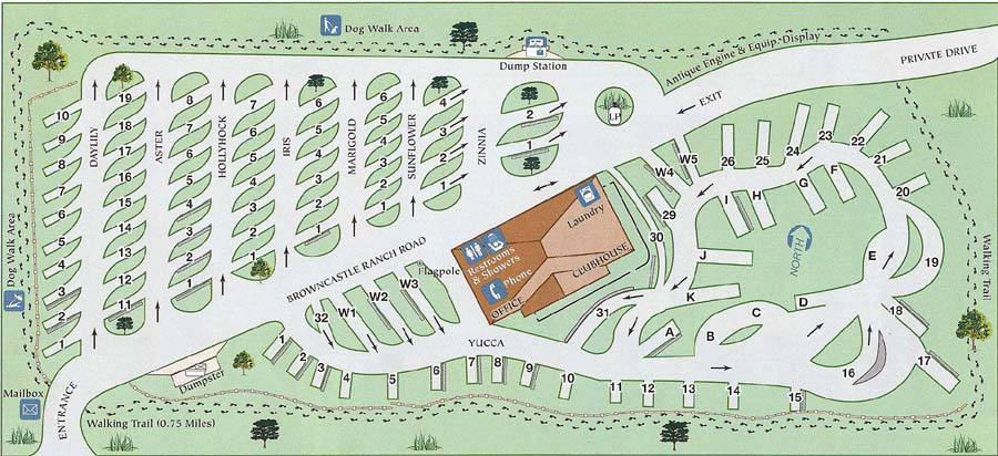 Santa Fe Skies RV Park Map